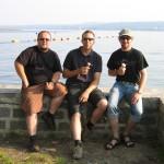 Berni, Johi und Manuel am Lago Maggiore