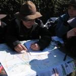 Karte-Kompass-Aktion im Ried