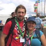 Nina und Manuel beim 22. World Scout Jamboree in Schweden