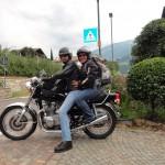 Nina und Manuel auf der Kawasaki Z750